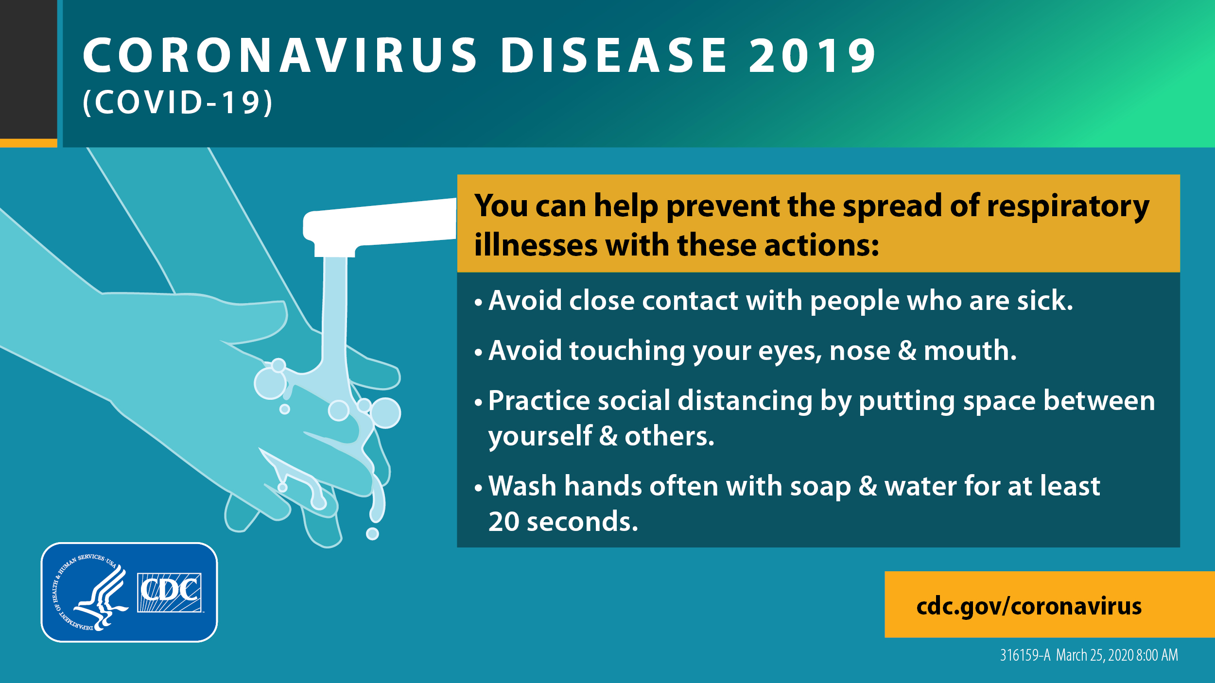 Tips to prevent the spread of coronavirus