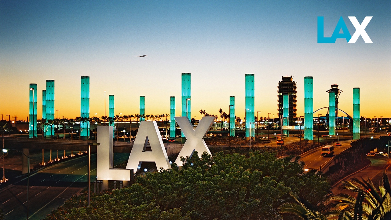 LAX Sign outside airport